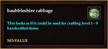 Baubbleshire cabbage