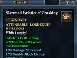 Slammed Wristlet of Crushing