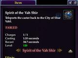 Spirit of the Vah Shir