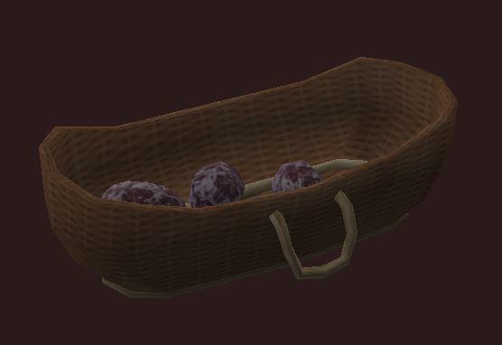 A basket of Emerald stoneleer eggs