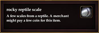 Rocky reptile scale