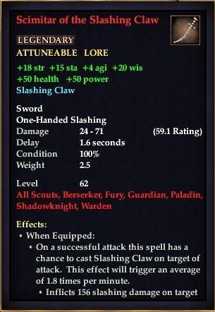 Scimitar of the Slashing Claw