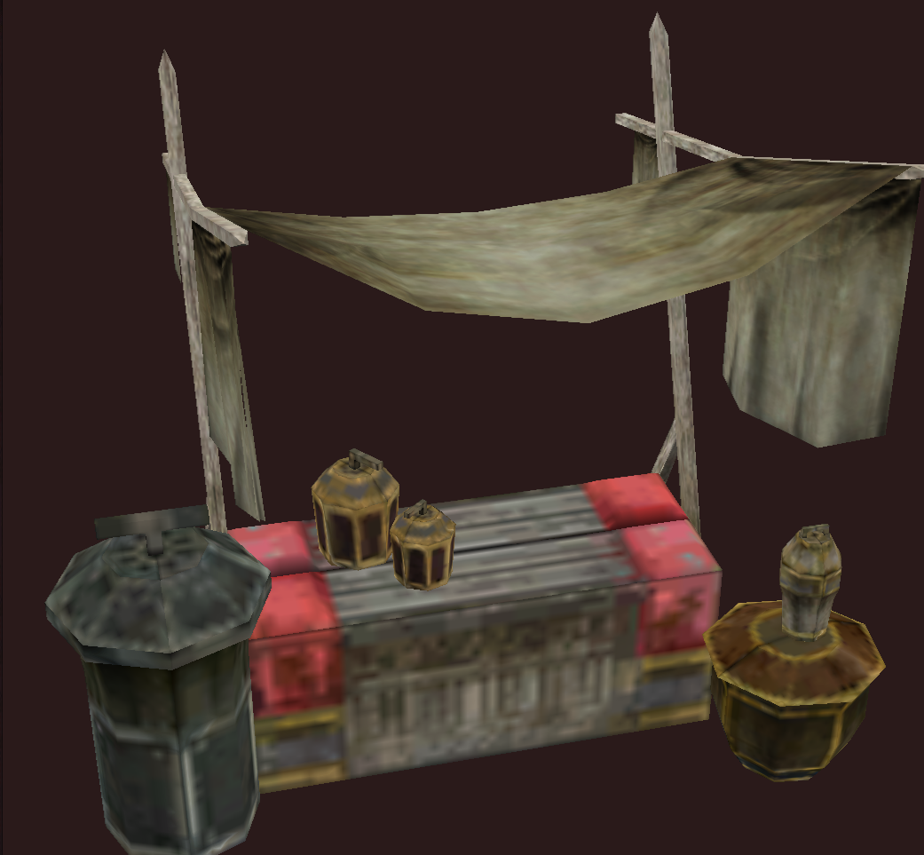 Shaded Draconic Table and Vase Set, Version 1