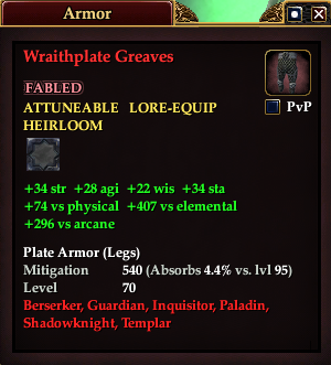Wraithplate Greaves