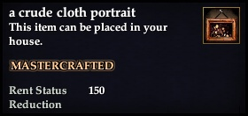 A crude cloth portrait