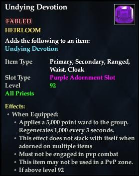 Undying Devotion (92, Heirloom, purple, Fabled) (Crate Reward)