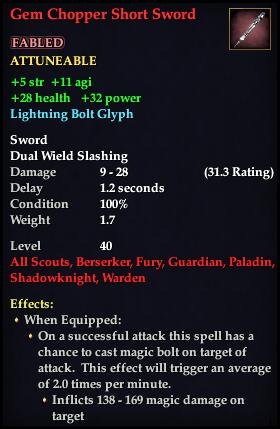 Gem Chopper Short Sword