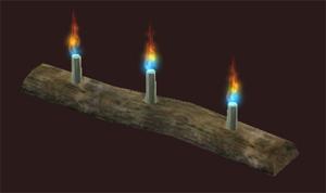Row of Bristlebane Day Candles