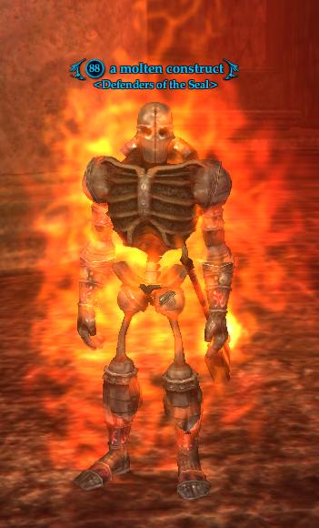 A molten construct
