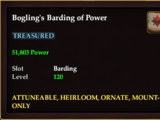 Bogling's Barding of Power