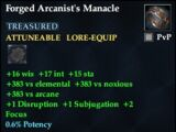 Forged Arcanist's Manacle