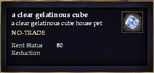 A clear gelatinous cube