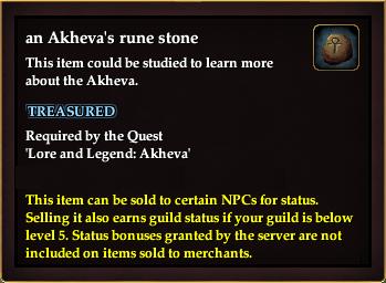 An Akheva's rune stone
