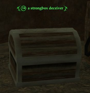 A strongbox deceiver
