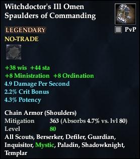 Witchdoctor's Ill Omen Spaulders of Commanding (Level 80)