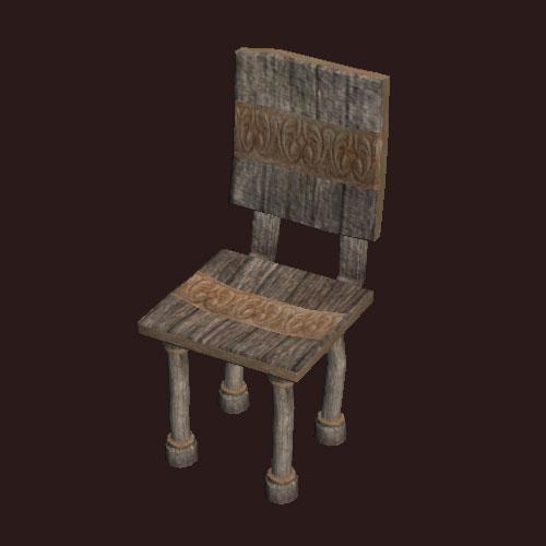 A medium worn chair