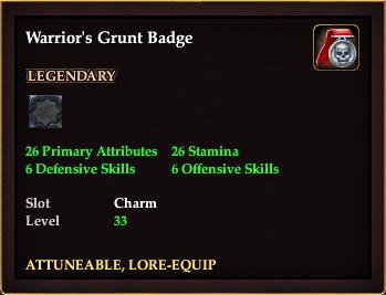 Warrior's Grunt Badge