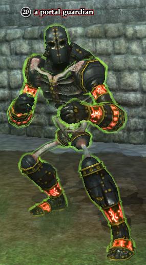 A portal guardian (Starcrest Commune: Shattered Sanctum)