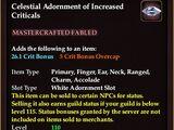 Celestial Adornment of Increased Criticals