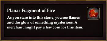Planar Fragment of Fire