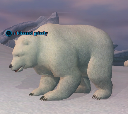 A blizzard grizzly