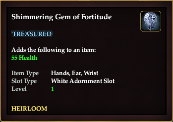 Shimmering Gem of Fortitude
