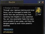 A Badge of Honor