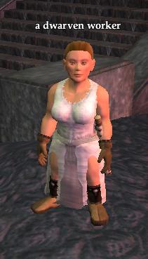 A dwarven worker