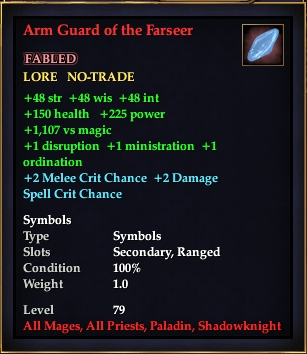 Arm Guard of the Farseer (Level 79)