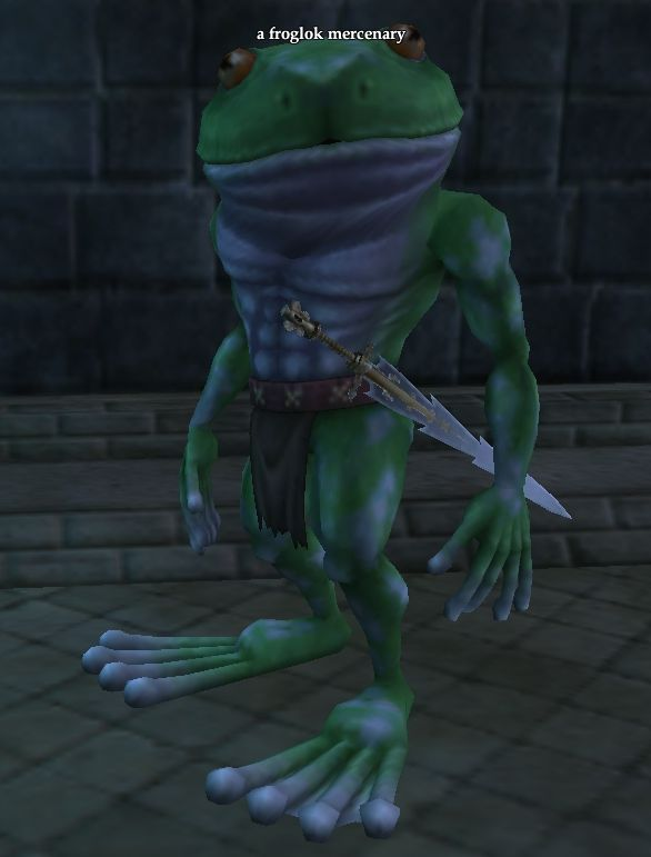 A froglok mercenary