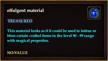 Effulgent material