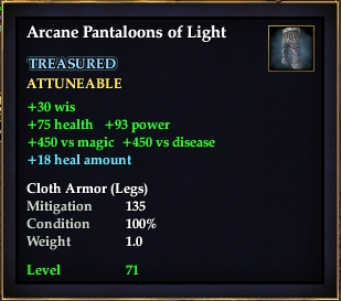 Arcane Pantaloons of Light