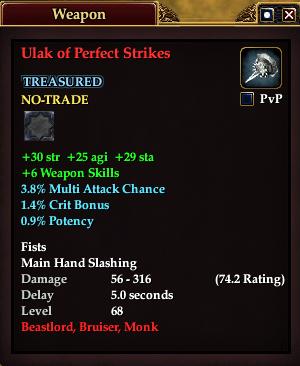 Ulak of Perfect Strikes (Level 68)