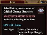 Scintillating Adornment of Critical Chance (Superior)