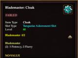 Blademaster: Cloak
