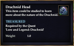 Drachnid Head (Lore and Legened)