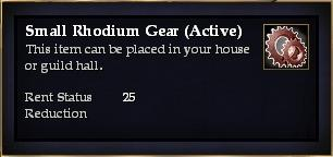 Small Rhodium Gear (Active)