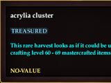 Acrylia cluster (no-value)