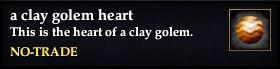 A clay golem heart