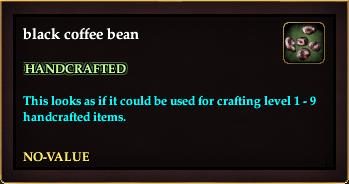 Black coffee bean