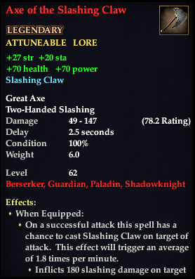Axe of the Slashing Claw