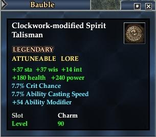 Clockwork-modified Spirit Talisman