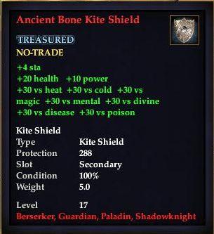 Ancient Bone Kite Shield