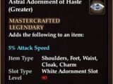 Astral Adornment of Haste (Greater) (Crafted)