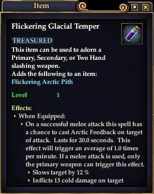 Flickering Glacial Temper