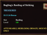 Bogling's Barding of Striking