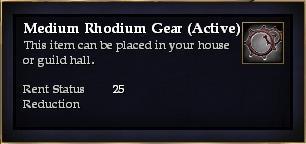 Medium Rhodium Gear (Active)