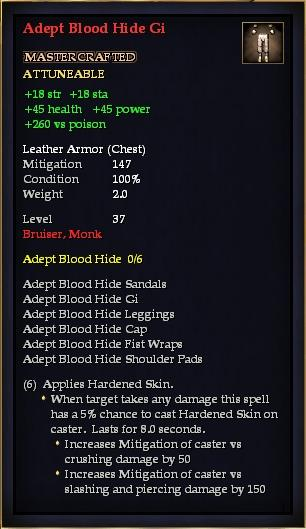 Adept Blood Hide Gi