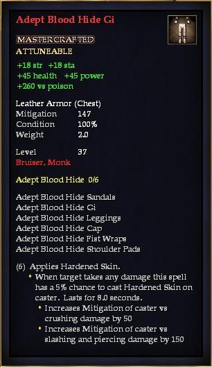 Adept Blood Hide Gi