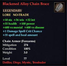 Blackened Alloy Chain Brace